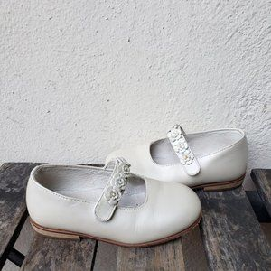 Vintage Nordstrom Girls Ivory Leather Mary Janes